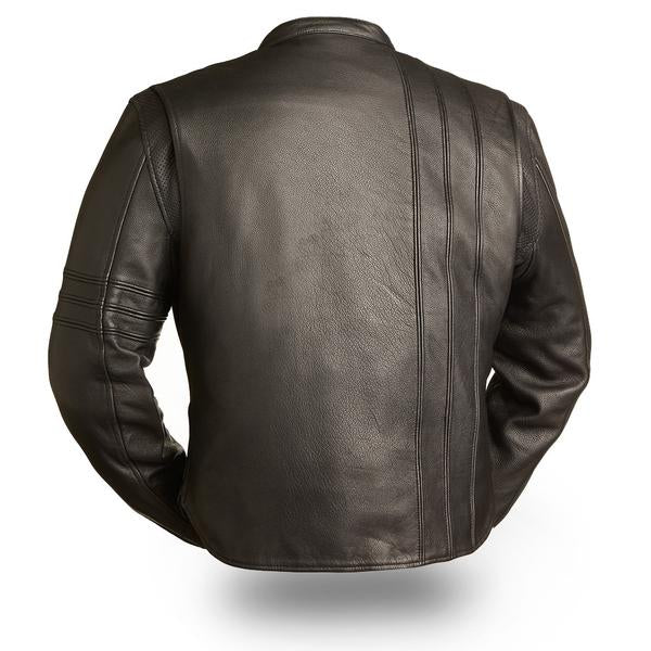 First Manufacturing Cafe A-Lister Men's Leather Motorcycle Jacket