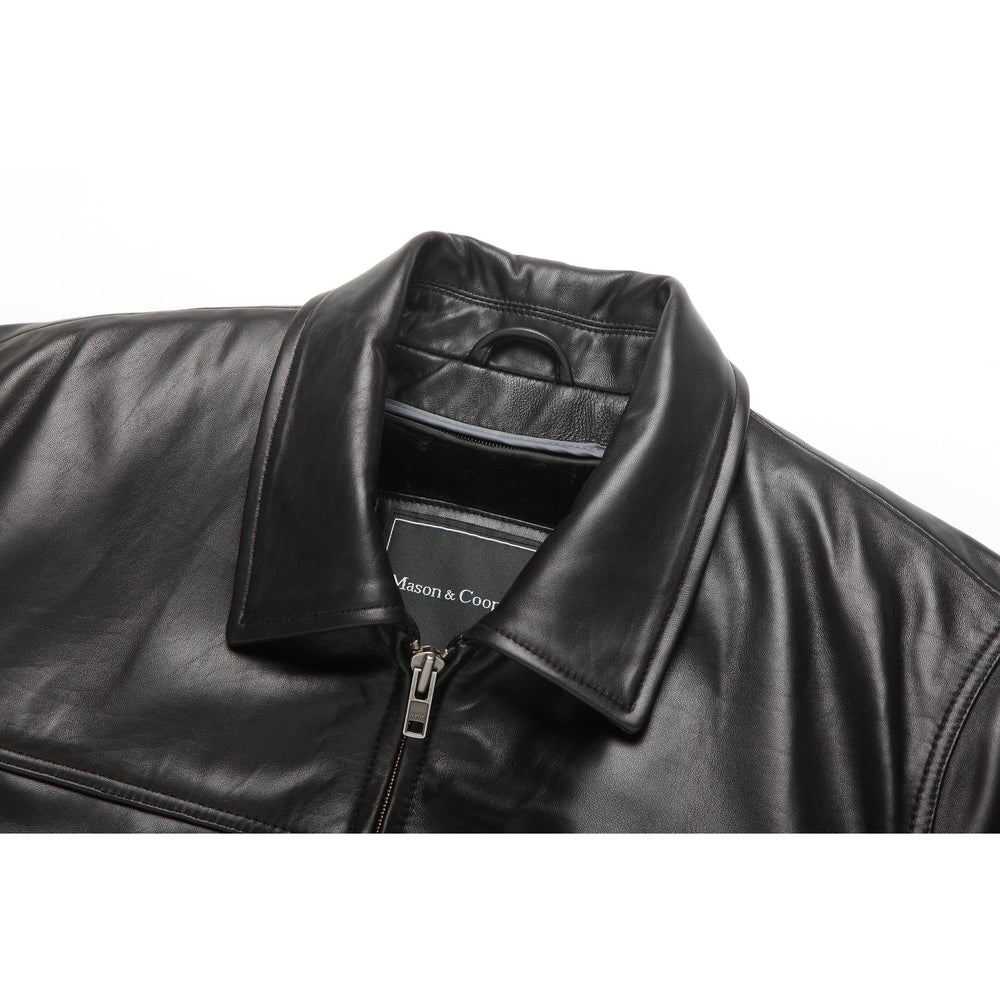 Mason & Cooper Zip Front Leather Jacket