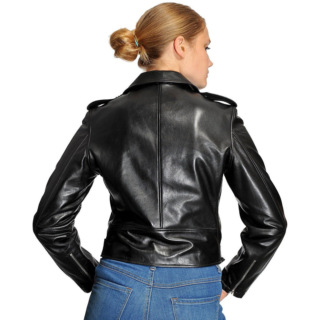 Mason & Cooper Ivy Lamb Moto Leather Jacket