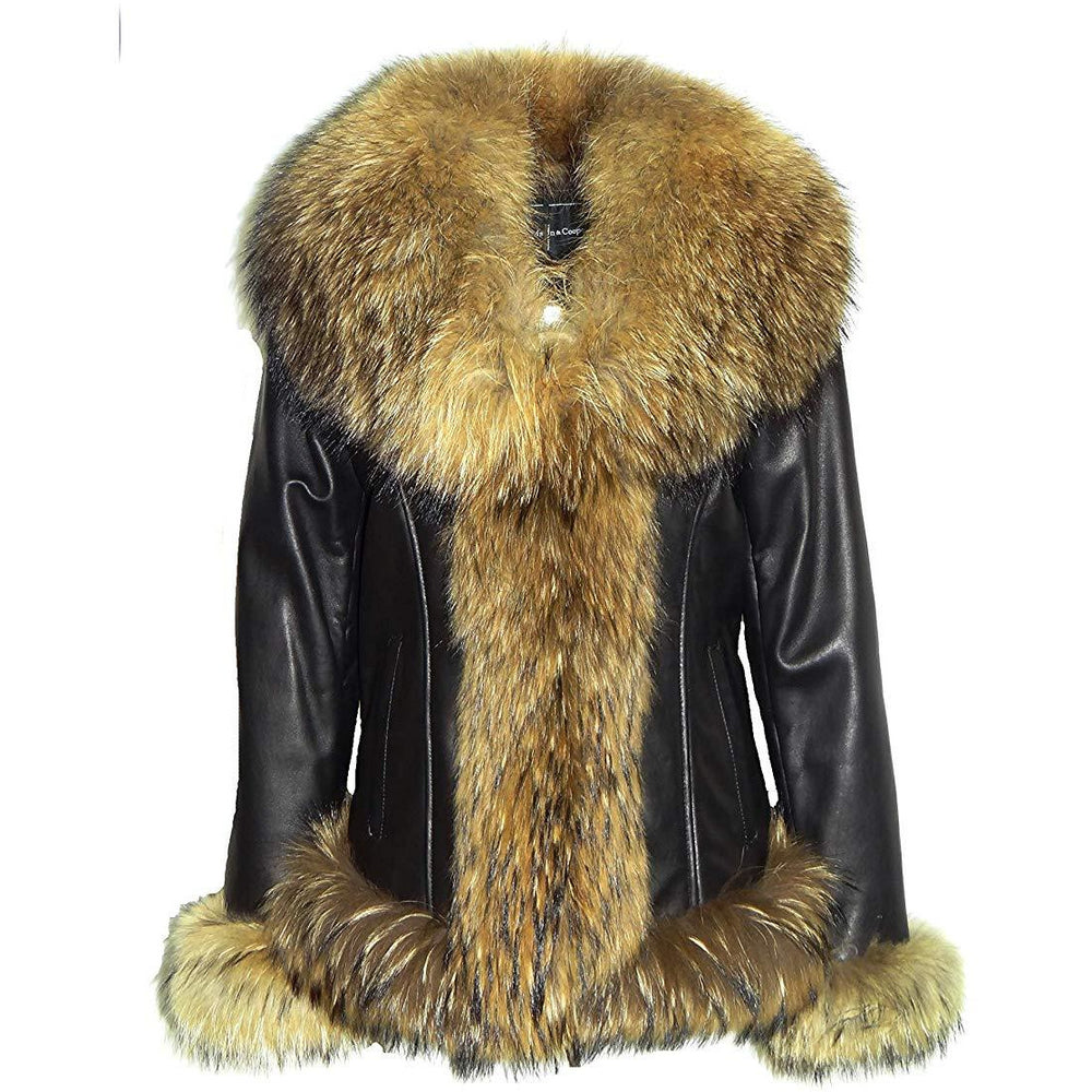 Mason &  Cooper Women's Fur-Trimmed Leather Jacket