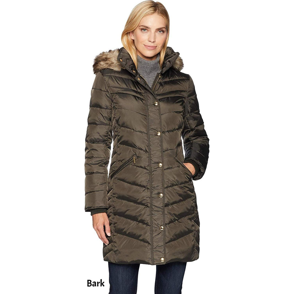 Michael Kors Snap Front 3/4 Down Hood Coat