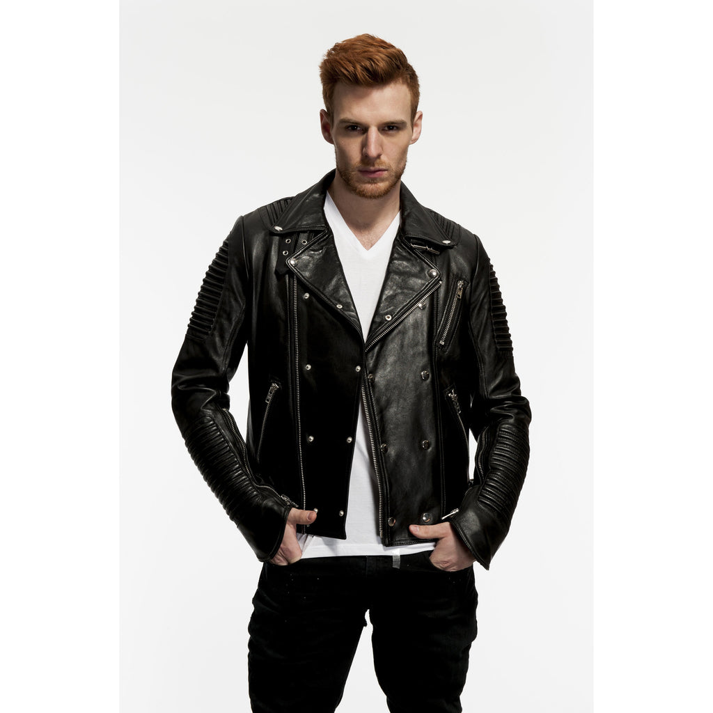Mason & Cooper Empire Double Zipper Motorcycle Leather Jacket