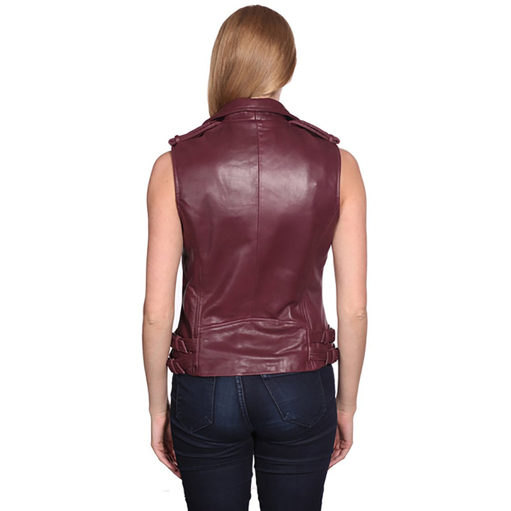 Nuborn Women's Moto Leather Vest