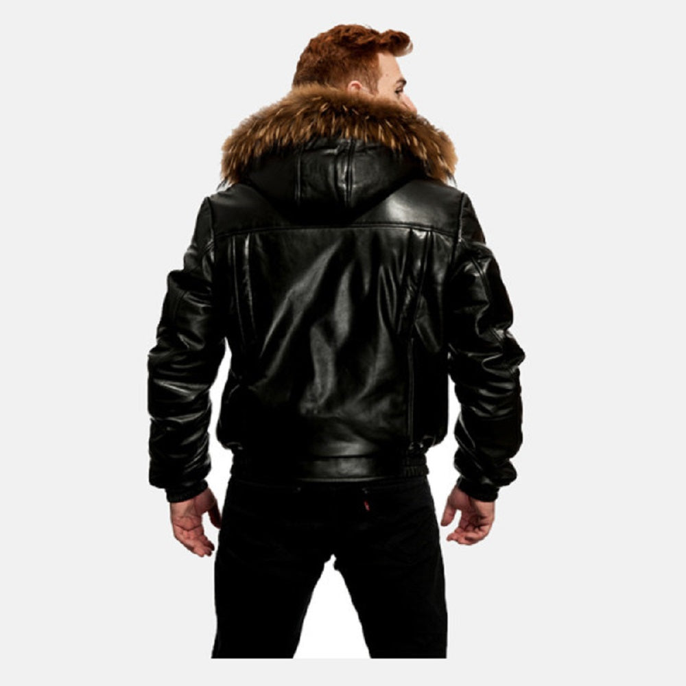 Original Goose Down Bomber Leather Jacket
