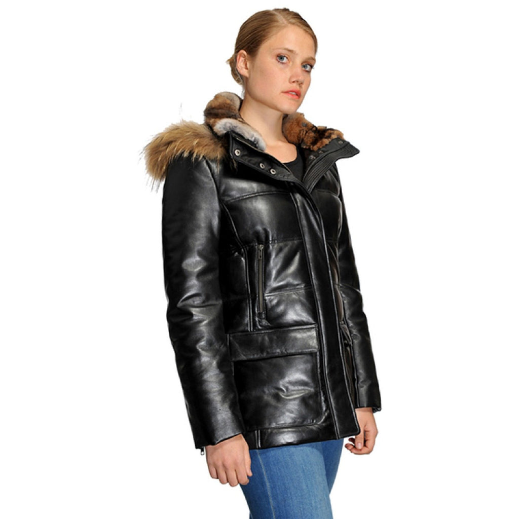 Original Goose Emily Leather Down Filled Parka