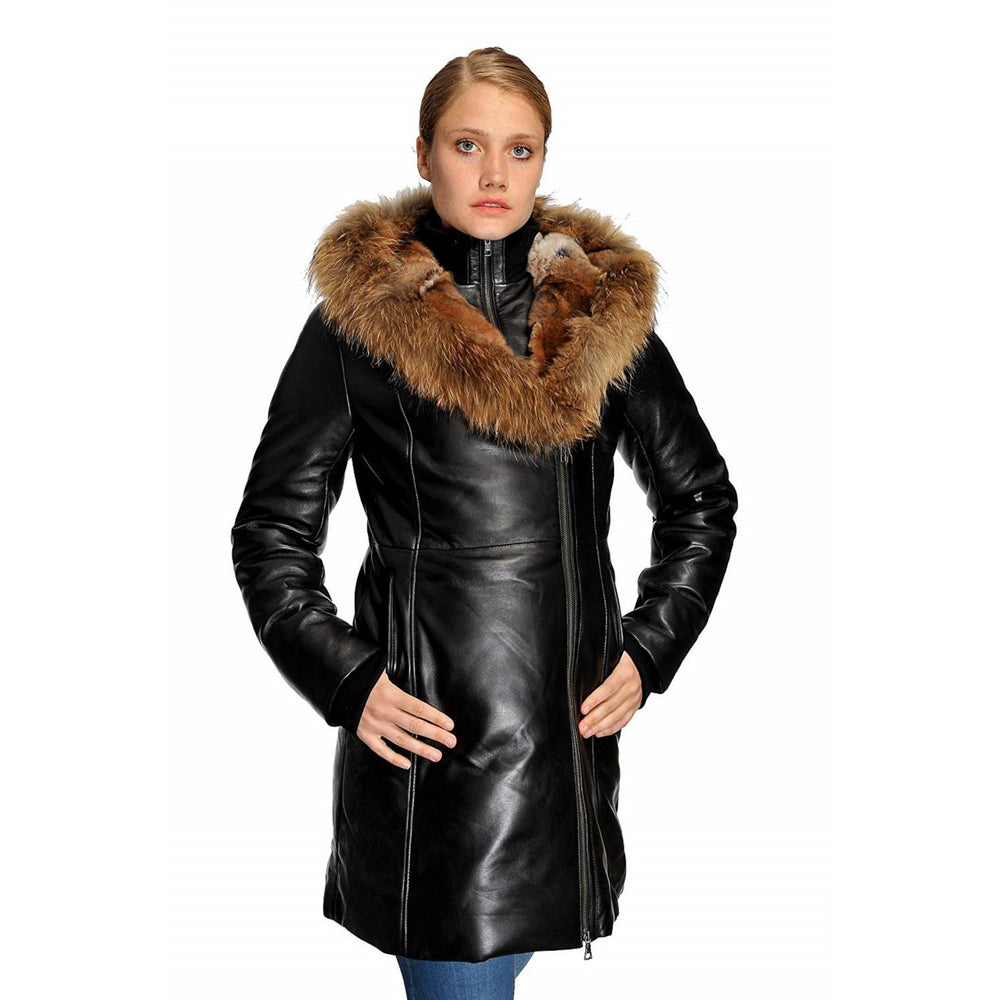Original Goose Down Parka Leather Coat