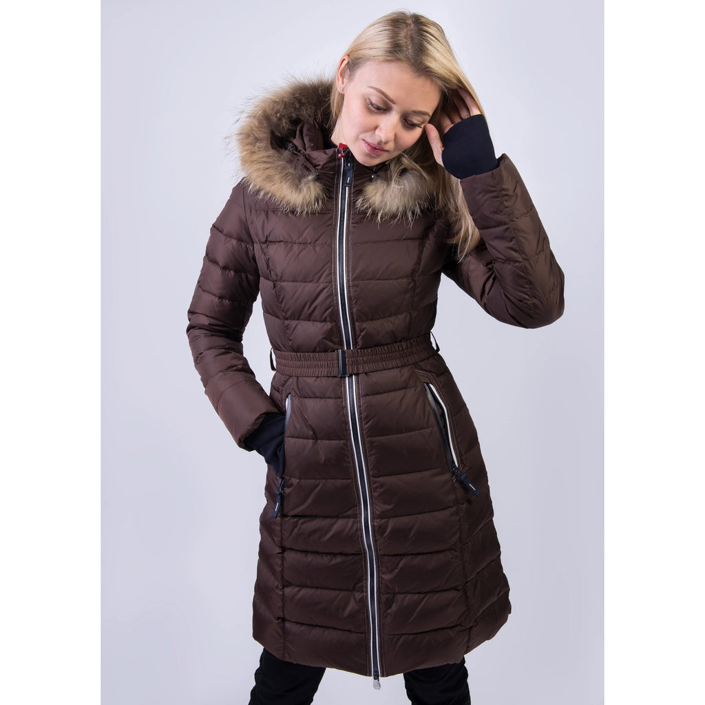 SNOWIMAGE Down Coat with Natural Fur
