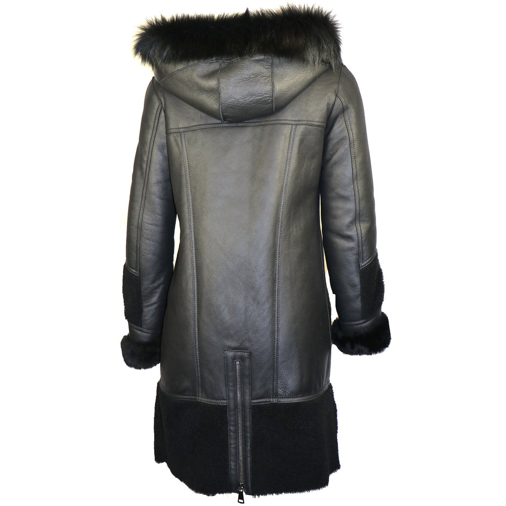 Shanazia Women's Sheepskin Shearling Coat