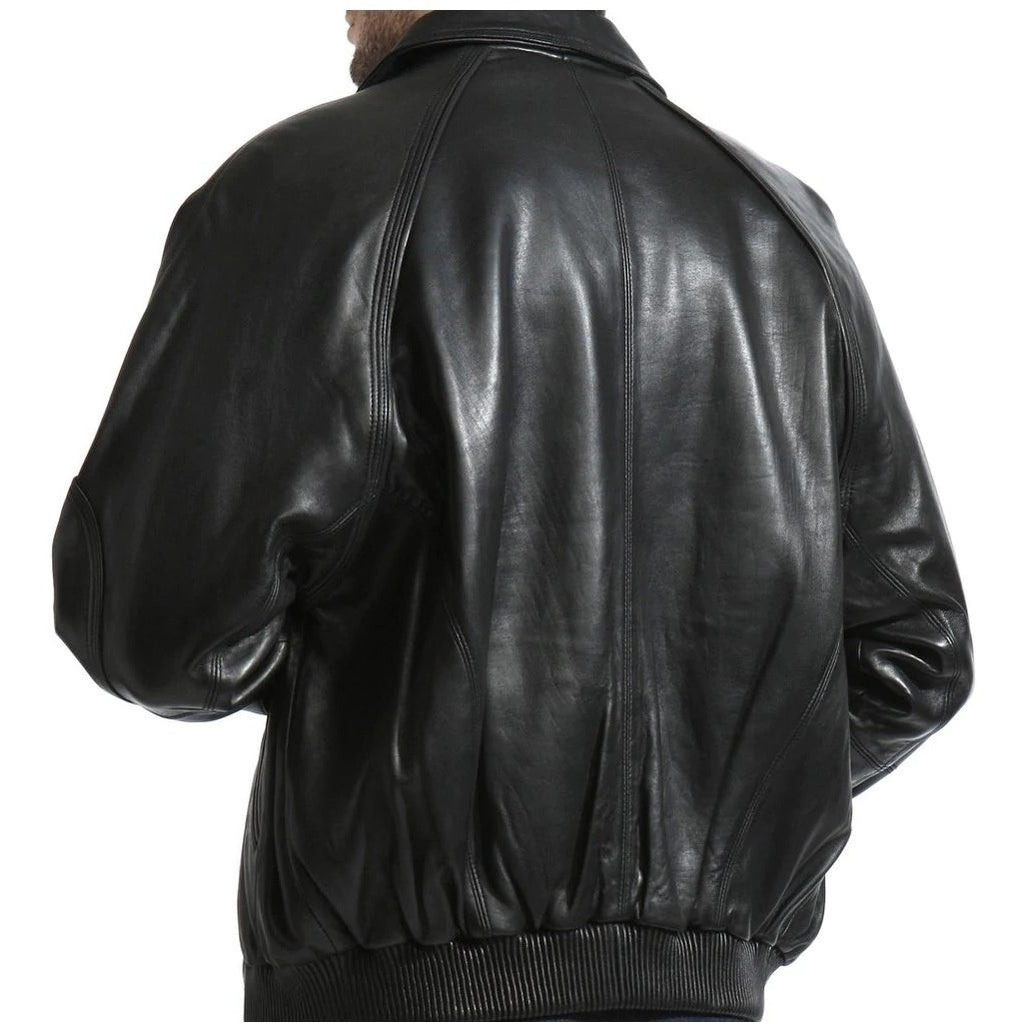 Tanners Avenue Lambskin Leather Bomber Jacket