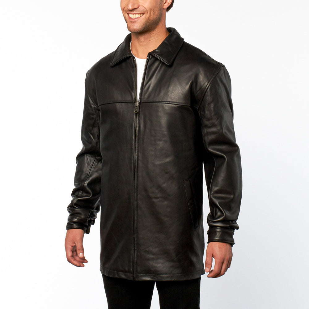 Tanners Avenue 3/4 Length Leather Jacket