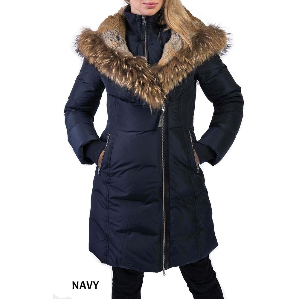 TOWMY BY SNOWIMAGE Down Coat with Real Fur