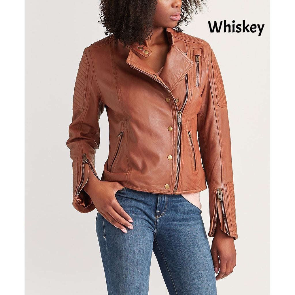 Whet Blu Zena Moto Leather Jacket