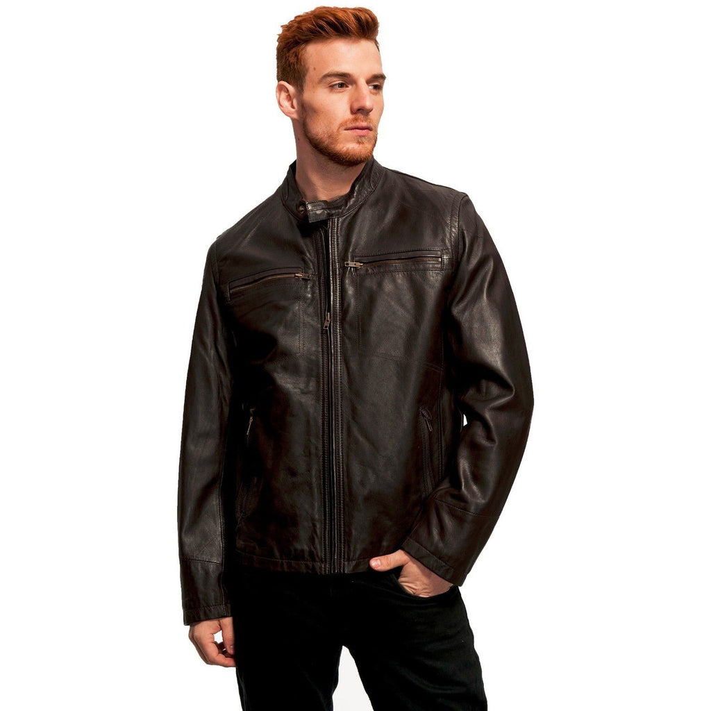 Whet Blu Men's Lamb Motorcycle Leather Jacket