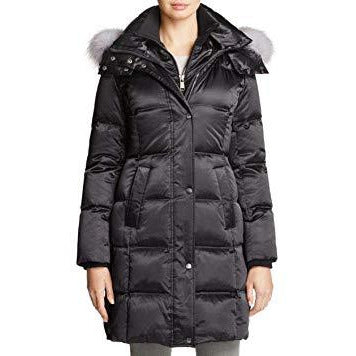ANDREW MARC Leven REAL FUR Trim Down Coat