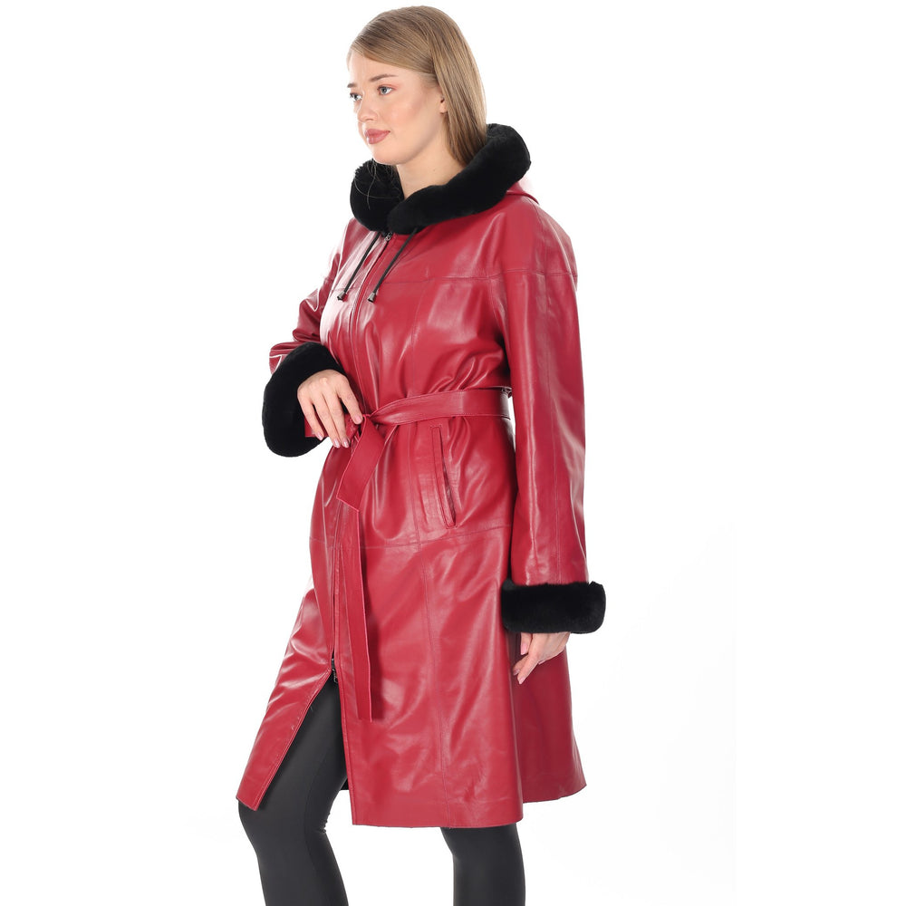 Barya Women's Reversible Leather/Fur Coat
