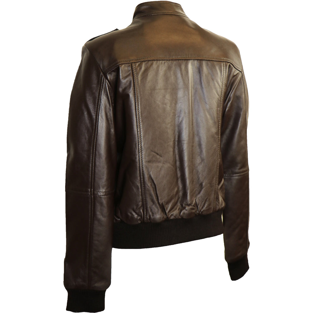 Superior Women's Bomber Leather Jacket