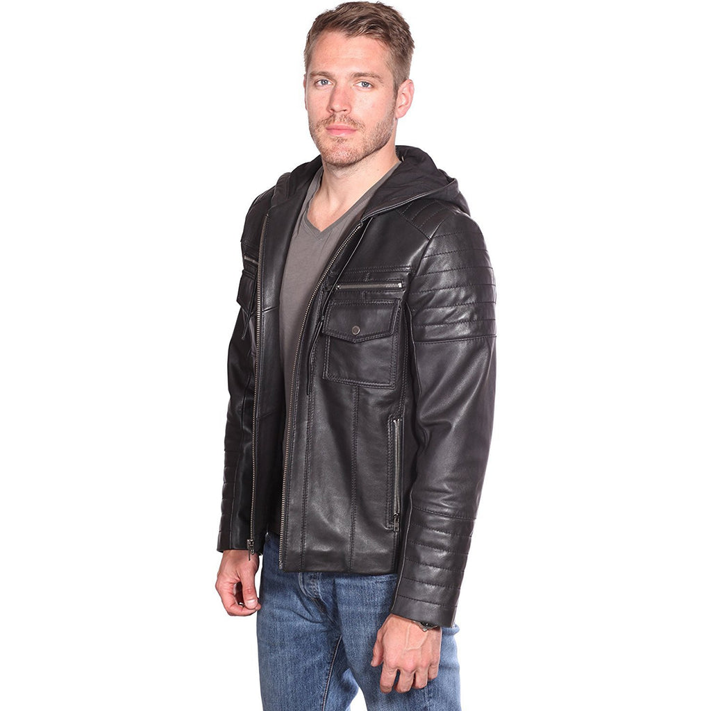 MASON & COOPER FLYNN LEATHER QUILTED JACKET