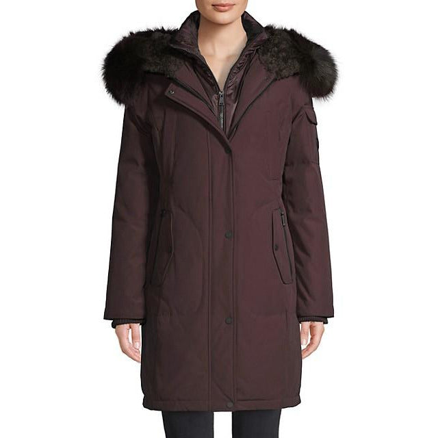 1 Madison Expedition Women's Down Coat with Fox fur