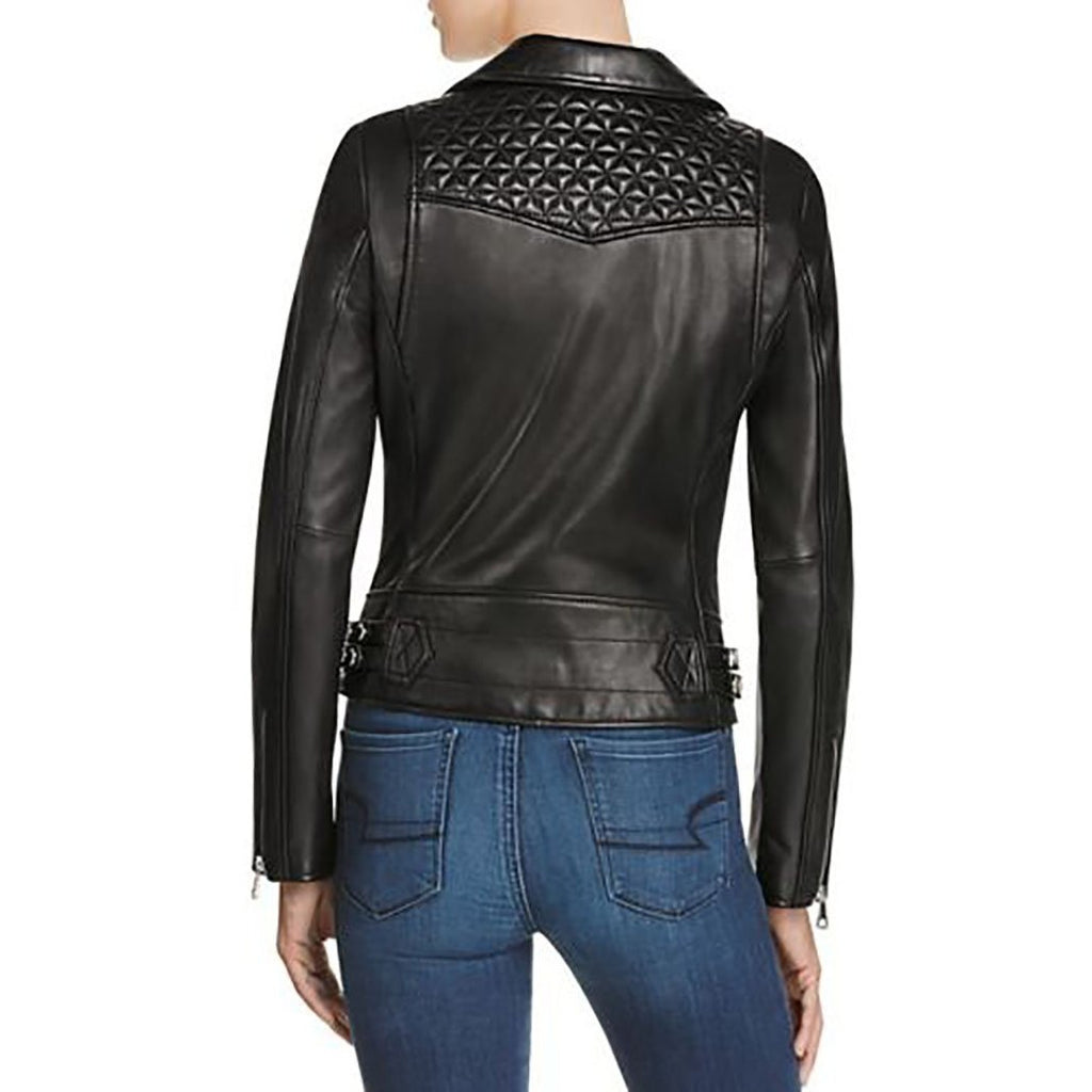 Marc New York Women's  Leah Moto Leather Jacket