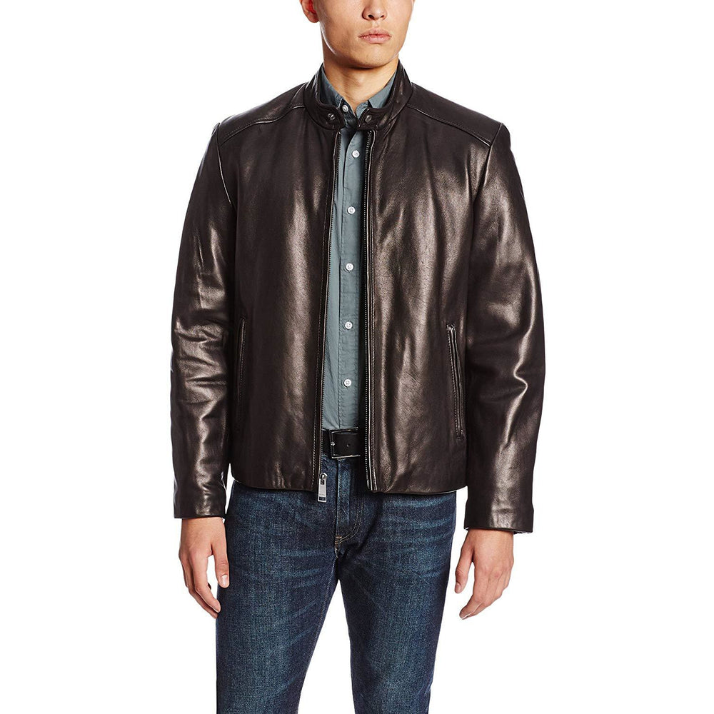 Marc New York by Andrew Marc Men's Sam Smooth Lamb Leather Jacket