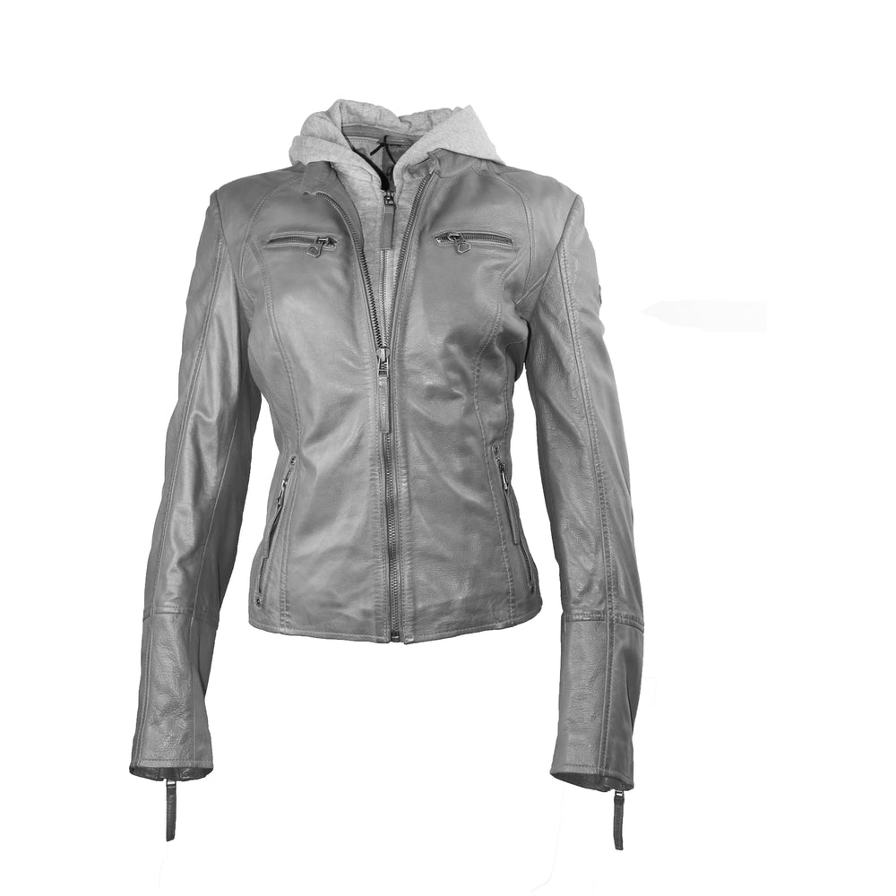 Mauritius Women's Moto Leather Jacket
