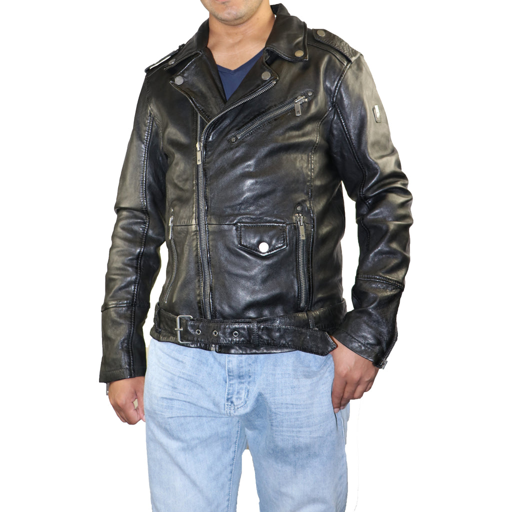 Mauritius Men's Marlon Moto Leather Jacket
