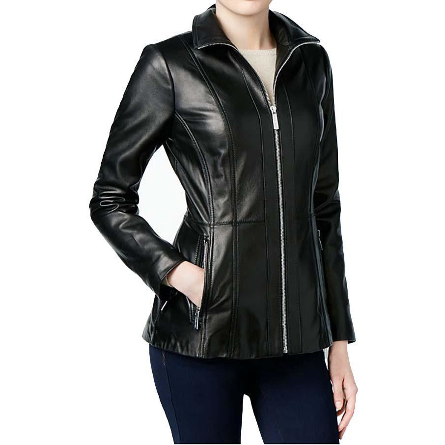 Michael Kors Scuba Leather Jacket