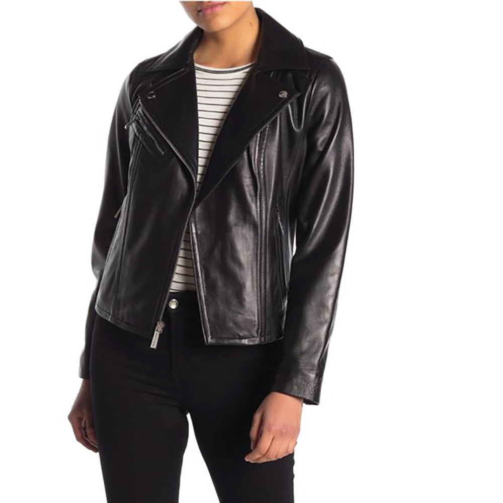 Michael Kors Women's Moto Leather Jacket