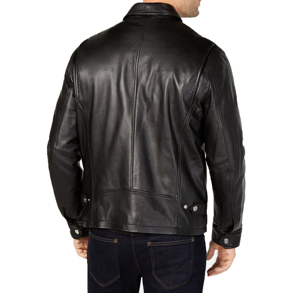 Michael Kors Men's Zip Front Leather Jacket