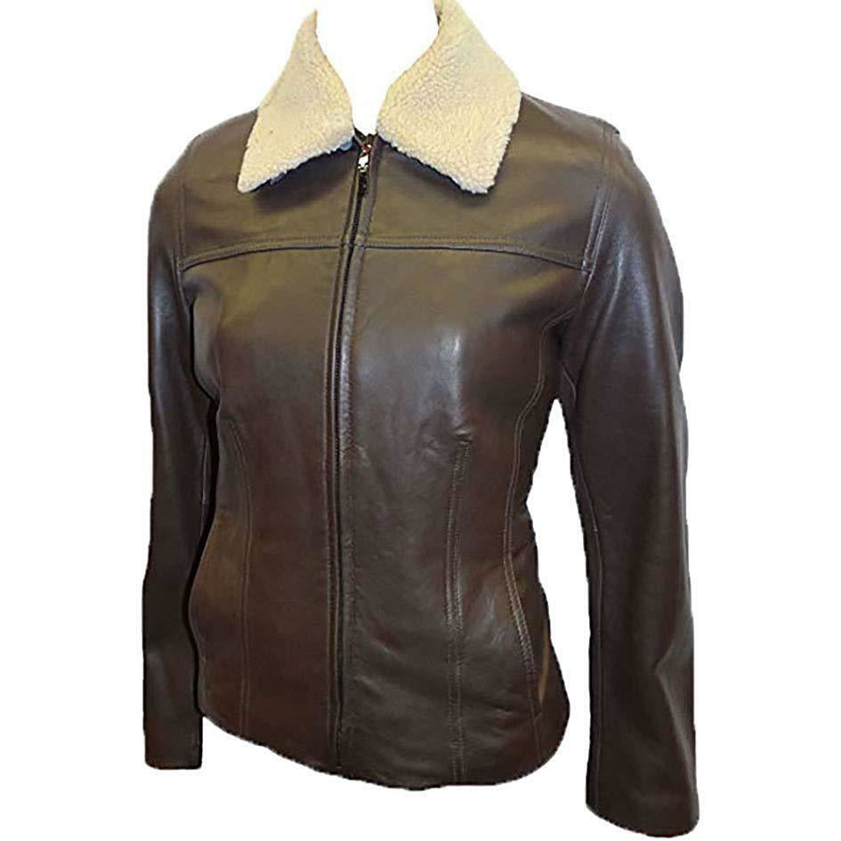 Avanti Women's Scuba Leather Jacket with Zip out Fur Collar