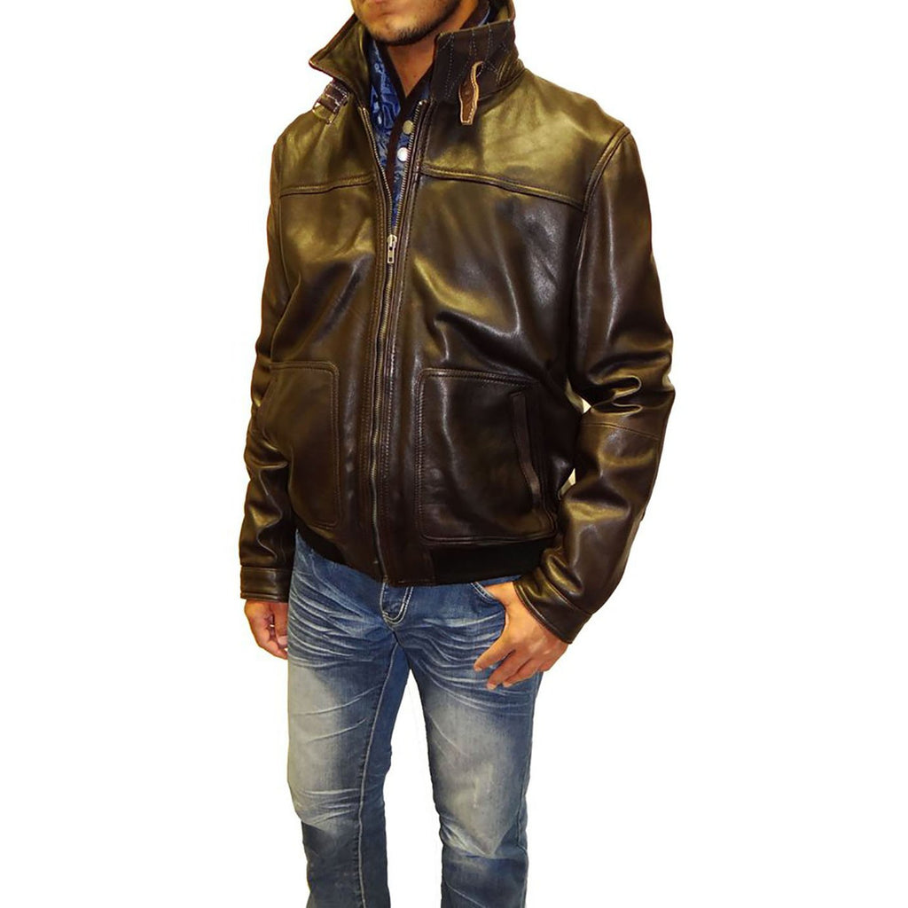 Tibor Design Bomber Leather Jacket