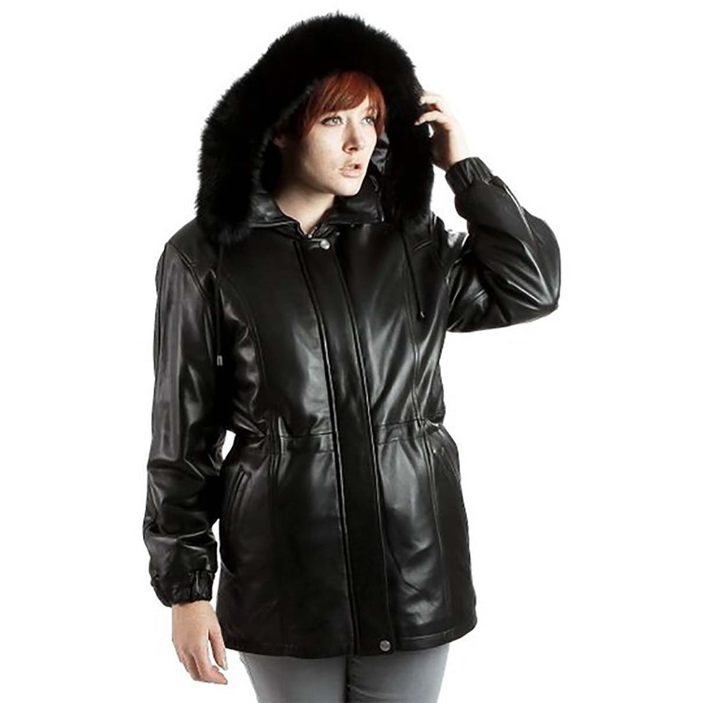 Ramonti Parka Leather Coat