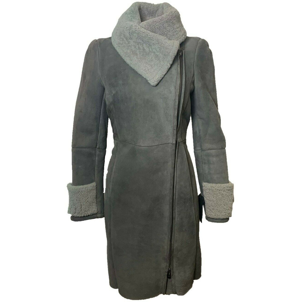 Via Veneto women's Mid-length Shearling Coat