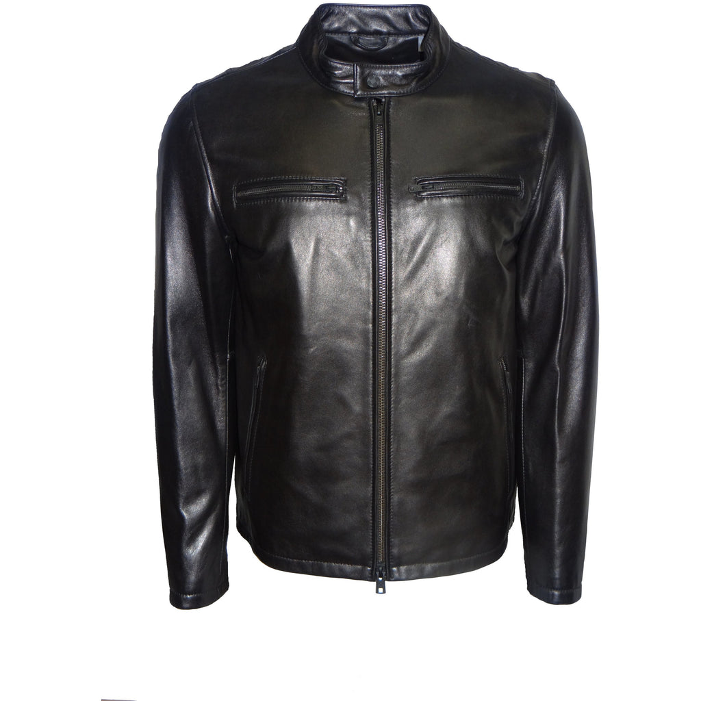 VINCE CAMUTO Men's Motorcycle Leather Jacket