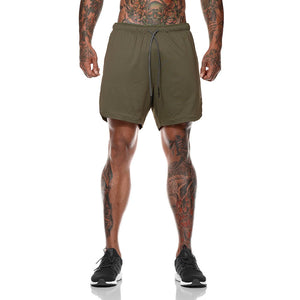 Inura Army Green 2in1 Shorts