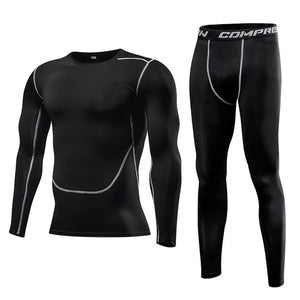 Men Clothing Sportswear Gym Fitness Compression Suits Running Set Sport Outdoor Jogging Quick Dry Tight