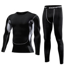 Load image into Gallery viewer, Men Clothing Sportswear Gym Fitness Compression Suits Running Set Sport Outdoor Jogging Quick Dry Tight