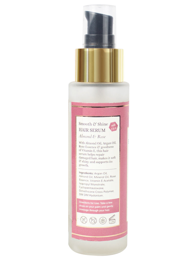 Smooth & Shine Hair Serum - Almond, Rose & Vit. E