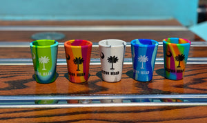 HHI Tie Dye Shot Glasses