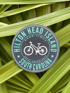HHI Good Times and Bike Circle Sticker