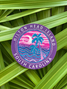 HHI Let's Get Beachy Circle Sticker