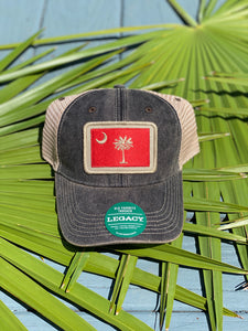 SC Moon and Palm Trucker Hat