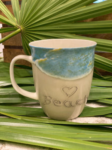 Beach Coffee Cup