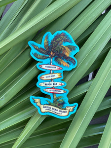 HHI Palm Tree Direction Sticker