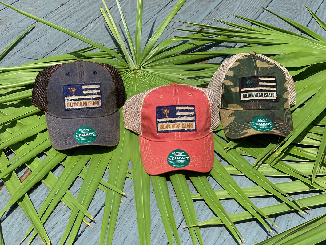 Flag Moon and Palm Hat
