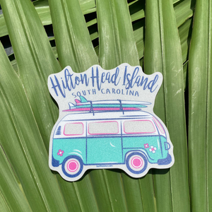 HHI Beach Van Sticker