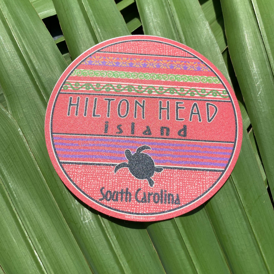 HHI Turtle Circle Sticker