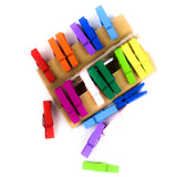 Multi Color Wooden Clip