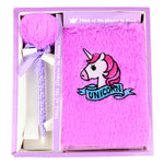 Charm Plush Unicorn Diary with Pen