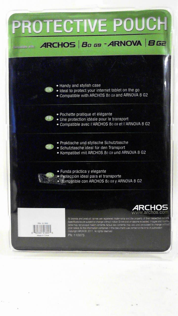 Archos Protective Case Tablet Stylish Pouch Folio Cover For 8o G9 8 G2 Black 501899